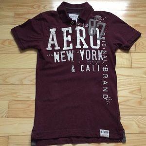 Men's Distressed Aeropostale Polo Shirt